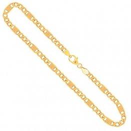 Goldkette, Fantasiekette Gelbgold 333/8 K, Länge 50 cm, Breite 5.2 mm, Gewicht ca. 9.7 g, NEU - 1