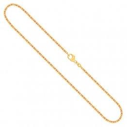 Goldkette, Königskette Gelbgold 585/14 K, Länge 50 cm, Breite 1.8 mm, Gewicht ca. 11.7 g, NEU - 1