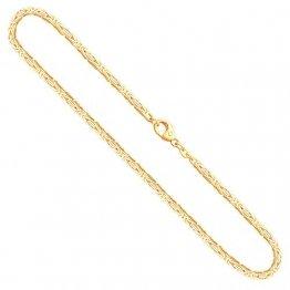 Goldkette, Königskette Gelbgold 585/14 K, Länge 50 cm, Breite 2.3 mm, Gewicht ca. 22.2 g, NEU - 1