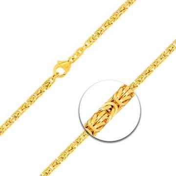 Goldkette, Königskette Gelbgold 585/14 K, Länge 50 cm, Breite 2.8 mm, Gewicht ca. 27.5 g, NEU - 2