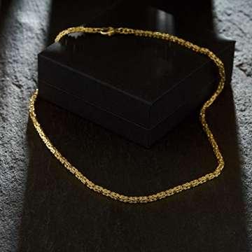 Goldkette, Königskette Gelbgold 585/14 K, Länge 50 cm, Breite 2.8 mm, Gewicht ca. 27.5 g, NEU - 3