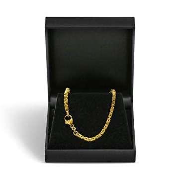 Goldkette, Königskette Gelbgold 585/14 K, Länge 50 cm, Breite 2.8 mm, Gewicht ca. 27.5 g, NEU - 4