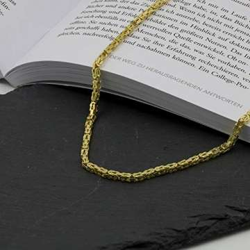 Goldkette, Königskette Gelbgold 585/14 K, Länge 50 cm, Breite 2.8 mm, Gewicht ca. 27.5 g, NEU - 5