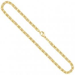 Goldkette, Königskette Gelbgold 585/14 K, Länge 55 cm, Breite 3.2 mm, Gewicht ca. 40.8 g, NEU - 1