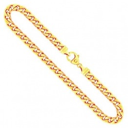 Goldkette, Panzerkette 4-seitig diamantiert Gelbgold 585/14 K, Länge 55 cm, Breite 6 mm, Gewicht ca. 70.7 g, NEU - 1