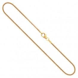Goldkette, Schlangenkette Gelbgold 585/14 K, Länge 50 cm, Breite 1.2 mm, Gewicht ca. 4.4 g, NEU - 1