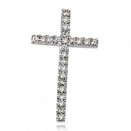 Goldmaid Damen-Anhänger Kreuz 585 Weißgold 24 Diamanten H 0,16 ct. Schmuck - 1