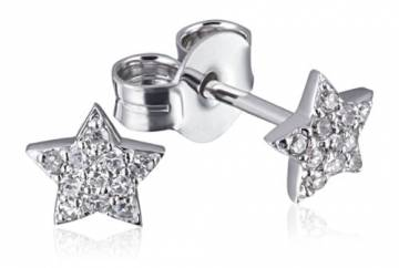 Goldmaid Damen-Ohrstecker 14 Karat (585) Weißgold Starshine 22 Diamanten SI/H 0,12 ct. Ohrringe Schmuck - 1