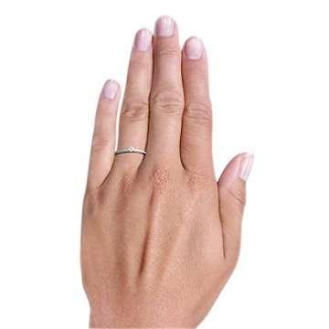 Goldmaid Damen-Ring Verlobung 585 Weißgold Diamant (0.18 ct) weiß Brillantschliff Gr. 58 (18.5)-Pa R7437WG58 Verlobungsring Diamantring - 5