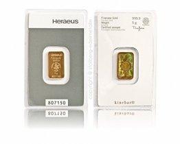 Heraeus Kinebar 5g Gramm Goldbarren 999.9 - 1