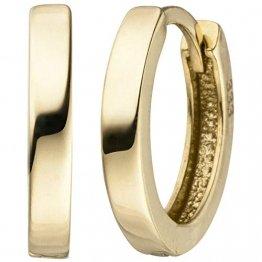 JOBO Damen-Creolen aus 333 Gold 12,5 mm - 1