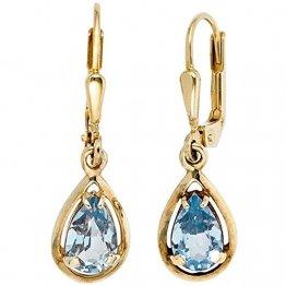 JOBO Damen-Ohrhänger aus 333 Gold mit Spinell Tropfen - 1