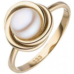 JOBO Damen-Ring aus 333 Gold mit Perle Größe 58 - 1