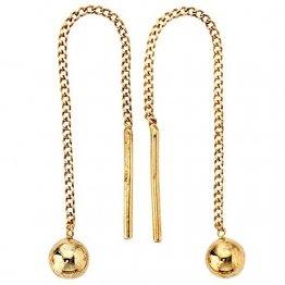 JOBO Durchzieh-Ohrhänger 333 Gelbgold Gold-Ohrringe - 1