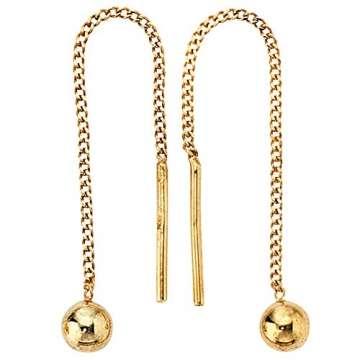 JOBO Durchzieh-Ohrhänger 333 Gelbgold Gold-Ohrringe - 2