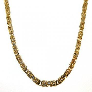 Königskette Gold Doublé 7 mm 70 cm Halskette Goldkette Herren-Kette Damen Geschenk Schmuck ab Fabrik Italien tendenze BZGYs7-70v - 1