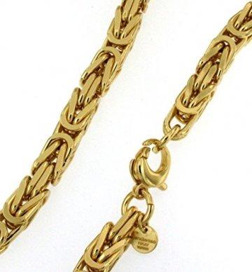 Königskette Gold Doublé 7 mm 70 cm Halskette Goldkette Herren-Kette Damen Geschenk Schmuck ab Fabrik Italien tendenze BZGYs7-70v - 5