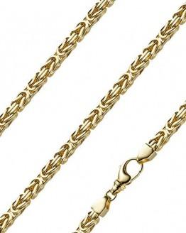 Königskette massiv 14 Karat 585 Gelbgold 60cm lang und 6,0mm breit - 1
