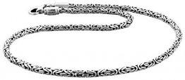 Kuzzoi Massive 925 Sterling Silber Königskette Herren Halskette, Dicke 4mm, Länge 60 cm, mit Schmuckbox - 345052-060 - 1