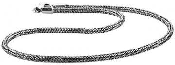 KUZZOI massive 925 Sterling Silber Königskette Herren Halskette, Dicke 5mm, Länge 50 cm, mit Schmuckbox - 345051-050 - 1