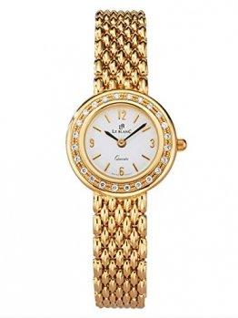 Le Blanc Damen Analog Uhr in 585 Gold (14 Karat) mit Armband in Gelb aus 585 Gelbgold - 1