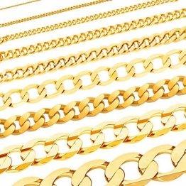 Massive edle Goldkette Panzerkette Halskette Collier Echt 585 Gold (50, 4.7mm) - 1