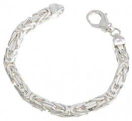 Massives Königskette Armband 8mm Breite - 925 Silber, Länge 21cm - 1