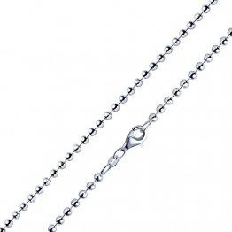 MATERIA 2,7mm Kugelkette Silber 925 hochglänzend - Halskette Damen Collier in 40-70cm mit Box #K10, Länge Halskette:40 cm - 1