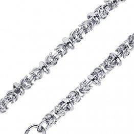 MATERIA Damen Halskette 60cm Königskette Silber 925-5mm Silberkette Kette Collier rhodiniert in Etui K77-60 cm - 1
