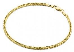Miore Armband - Armreif Damen Gelbgold 9 Karat / 375 Gold Weizen Kette 19.5 cm - 1