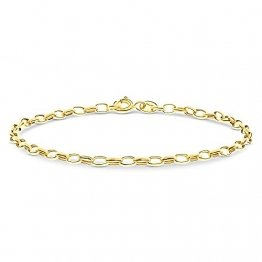 Miore Armband Damen Panzerkette Weit Gelbgold 14 Karat / 585 Gold, Länge 19.5 cm Schmuck - 1