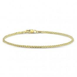 Miore Armband Damen Weizenkette Gelbgold 14 Karat / 585 Gold, Länge 19.5 cm Schmuck - 1
