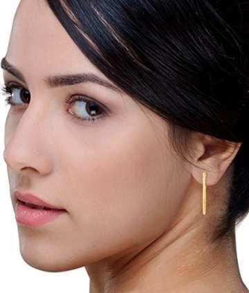 Miore Ohrringe Damen klassische Creolen aus Gelbgold 18 Karat/ 750 Gold, ovale Ohrschmuck 19.5 X 28.5 mm - 5