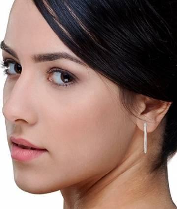 Miore Ohrringe Damen klassische Creolen aus Weißgold 18 Karat/ 750 Gold, ovale Ohrschmuck 19.5 X 28.5 mm - 5