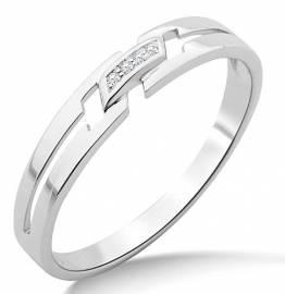 Miore Ring Damen Weißgold 9 Karat / 375 Gold Diamant Brillianten - 1