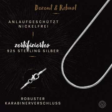 modabilé Schlangenkette Damen Halskette 925er Sterling Silber (50cm I 1,2mm breit) I Silberkette Damen 925 ohne Anhänger I Zarte Silberne Kette für Frauen Lang mit Etui I Produziert in Deutschland - 3