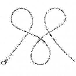 modabilé Schlangenkette Damen Halskette 925er Sterling Silber (50cm I 1,2mm breit) I Silberkette Damen 925 ohne Anhänger I Zarte Silberne Kette für Frauen Lang mit Etui I Produziert in Deutschland - 1