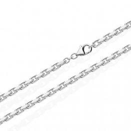 NKlaus 60cm Massive Ankerkette Collier 925 Silberkette Diamantiert 3,00mm 21g 3686 - 1
