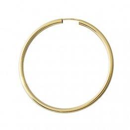 NKlaus Einzeln 333 Gold gelbgold Creole Ohrring Ohrschmuck rund Goldohrring 50mm 9018 - 1