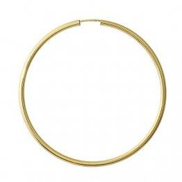 NKlaus Einzeln 333 Gold gelbgold Creole Ohrring Ohrschmuck rund Goldohrring 60mm 9019 - 1