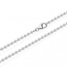 NKlaus Kugelkette Silber Kette 3639, 50 cm lang, 5 Gramm, 2mm Breit - 1