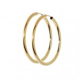 NKlaus Paar 585 Gold gelbgold Creolen Ohrringen Ohrschmuck 2,5mm rund Goldohrringe 40mm 9033 - 1