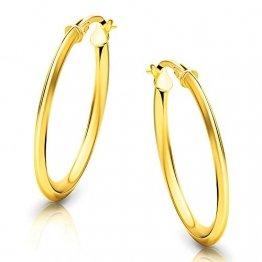 Orovi Damen Gold -Creolen Ohrringe GelbGold Ohrringe 18 Karat (750) Ohr-Schmuck - 1