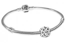 Pandora Armband Starterset Unendlichkeit 925 Silber Damenarmband für Charms 08051-20 20 cm - 1