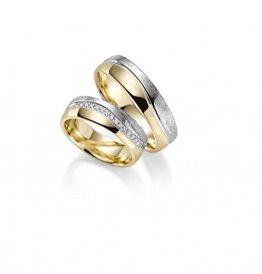 RJ 333 Gold Trauringe im Paarpreis in Gelb- und Weissgold - Rubin Juwelier- inkl Gravur und 15 Zirkonia - 1
