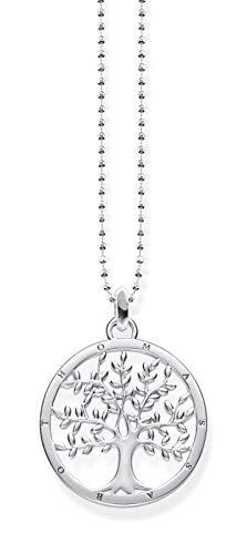 THOMAS SABO Damen Kette mit Anhänger Tree of Love Glam & Soul 925 Sterling Silber KE1660-001-21-L45v - 1