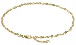 trendor Fußkettchen 333 Gold Singapur-Muster 2,2 mm breit modischer Fußschmuck für Damen, tolle Kette aus Echtgold, Geschenkidee für Frauen, Goldschmuck, 63263 - 1