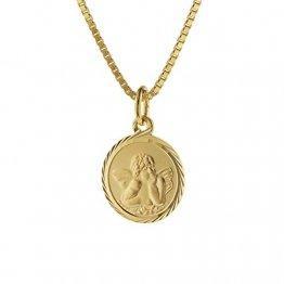 trendor Kinder Schutzengel Anhänger Gold 585 mit goldplattierter Kette 75214-40 40 cm - 1