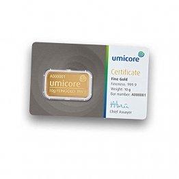 Umicore 10g Gramm Goldbarren 999.9 - 1