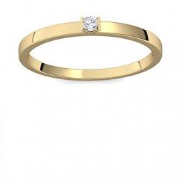 Verlobungsring Gold 585 Diamant 0,04 Carat H/si **sehr gute Qualität** +inkl. Luxusetui+ Diamantring solitär schmal dünn Goldring Diamant 585 Diamant Ring Gold Diamantring Gelbgold FF51GG585BRFA58 - 1